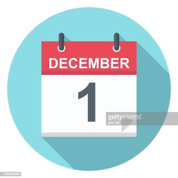 december 1 - calendar icon - december stock illustrations