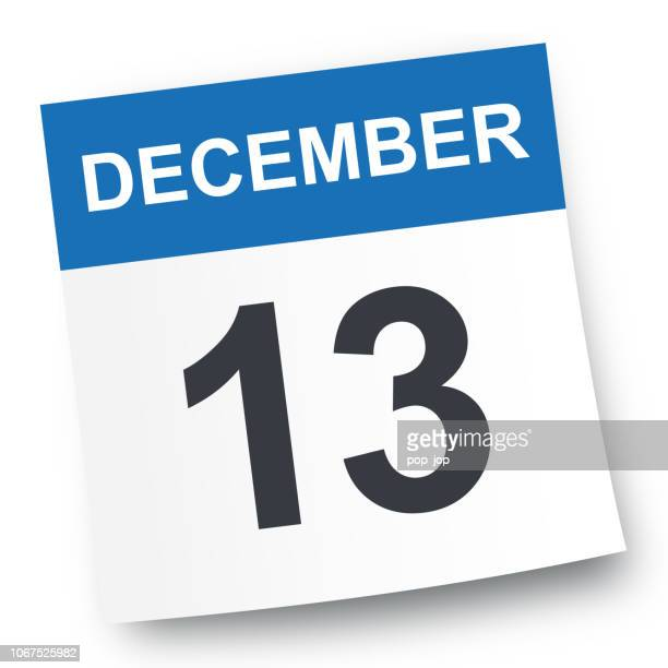 december 13 - calendar icon - page stock illustrations