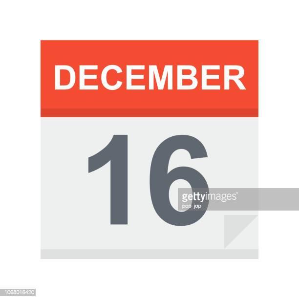 December 16 - Calendar Icon