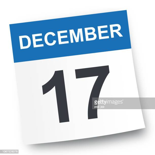 december 17 - calendar icon - 2019 2020 calendar stock illustrations