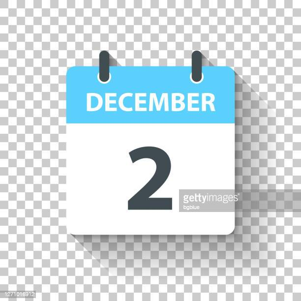 december 2 - daily calendar icon in flat design style - december stock illustrations
