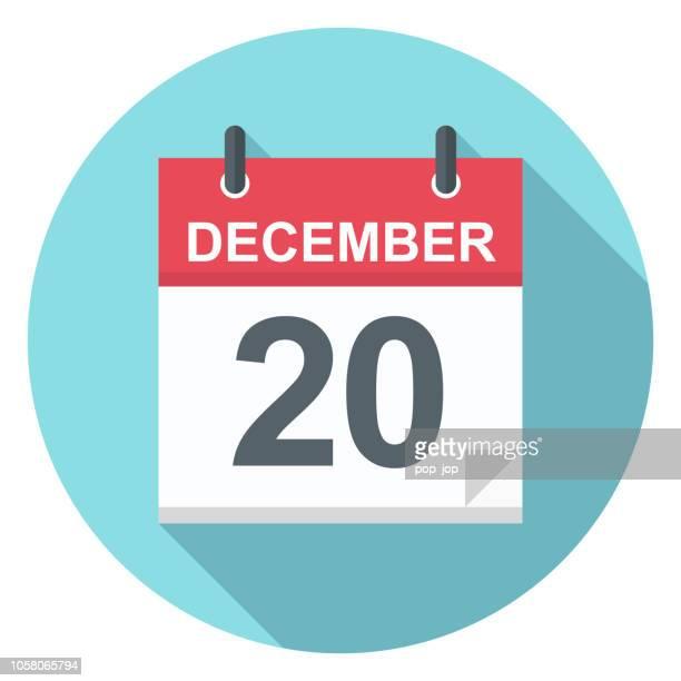 December 20 - Calendar Icon