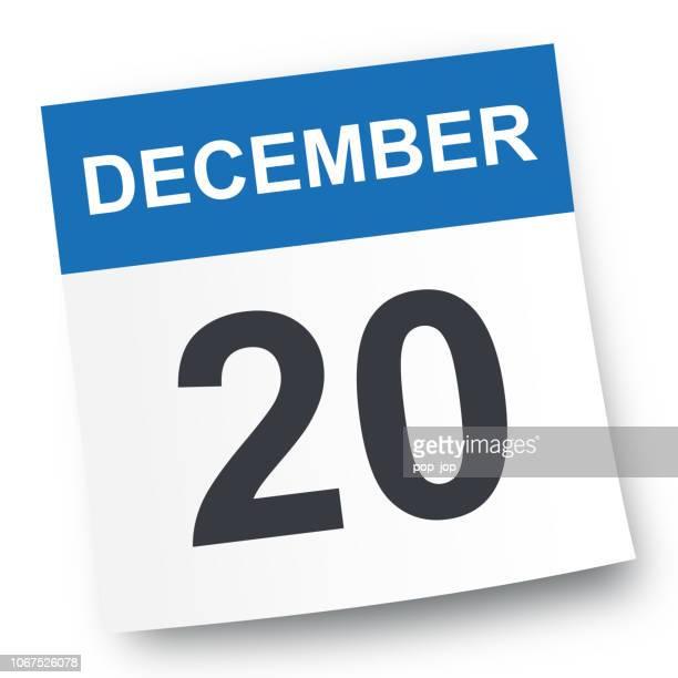 12 月 20 日 - カレンダー アイコン - 数字の20点のイラスト素材/クリップアート素材/マンガ素材/アイコン素材