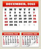 December 2013 Calendar Set