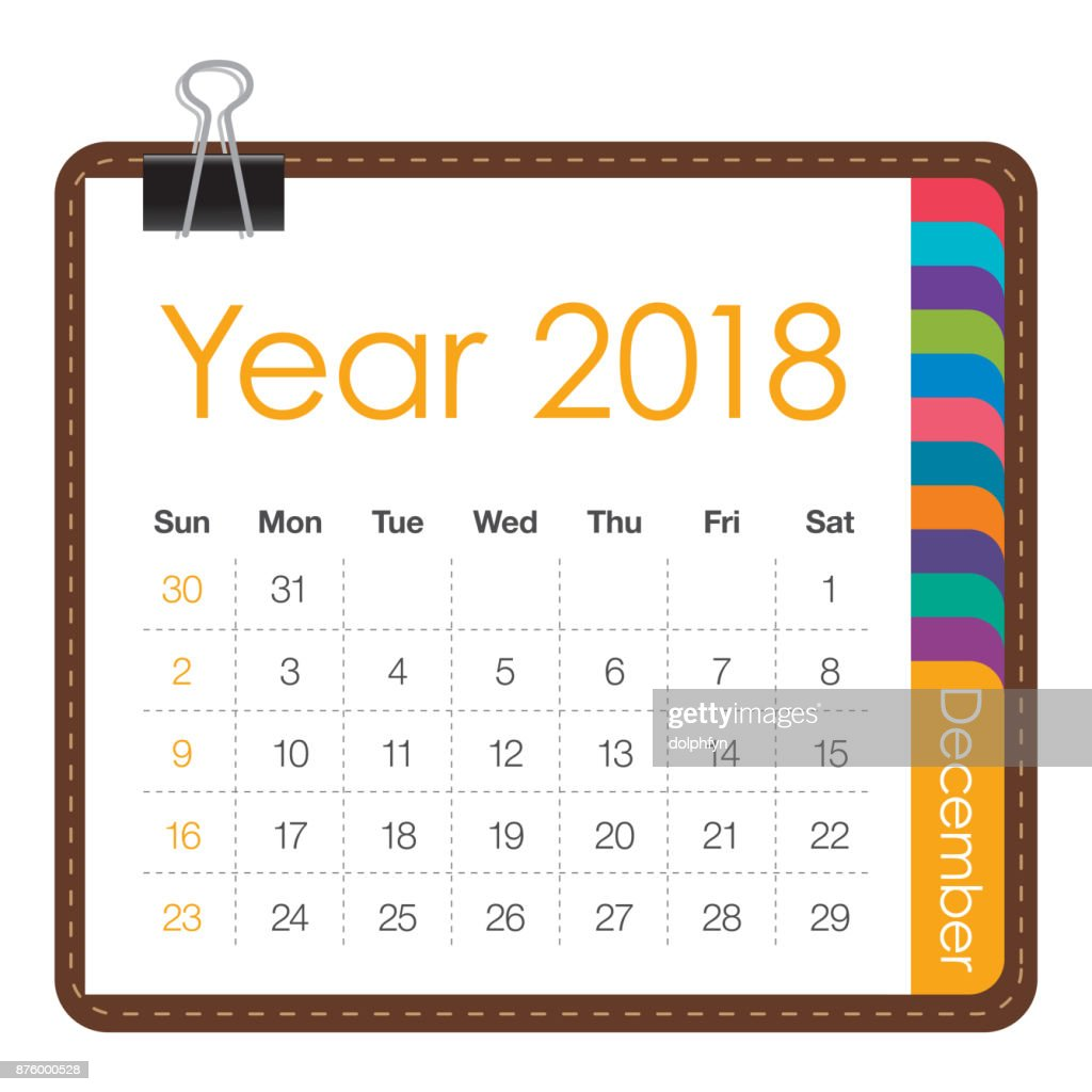 December Calendar Art : December calendar vector illustration vector art getty images