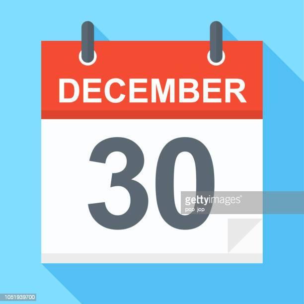 December 30 - Calendar Icon