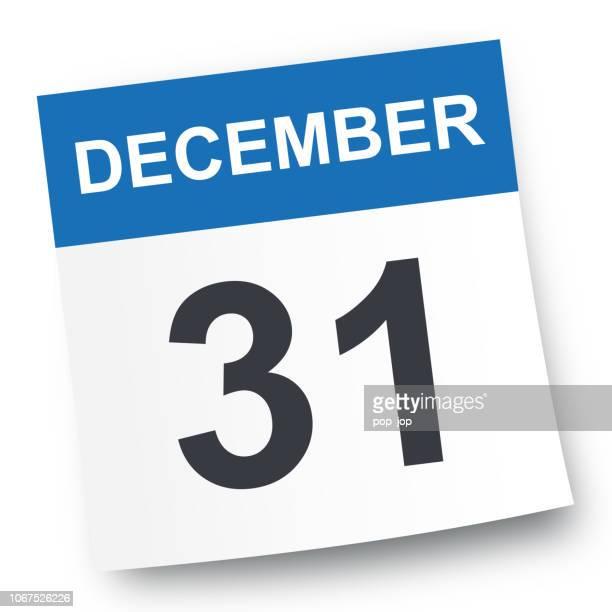 december 31 - calendar icon - december stock illustrations