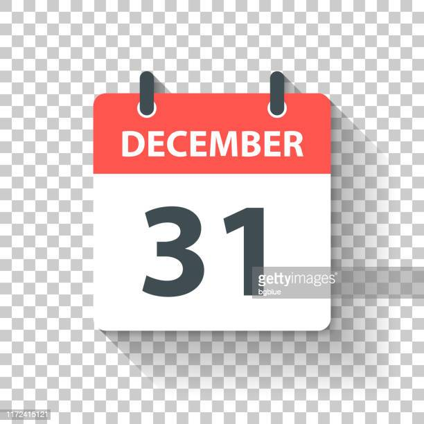 december 31 - daily calendar icon in flat design style - calendar date stock illustrations