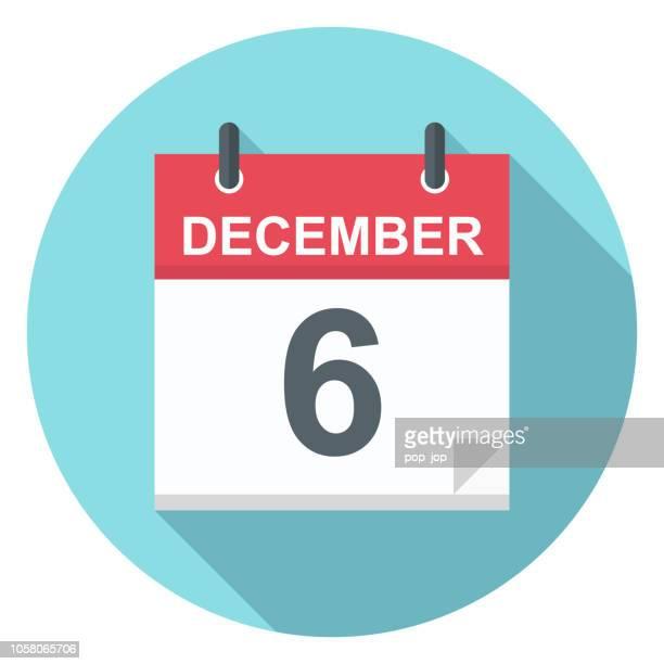 6. Dezember - Kalender-Symbol