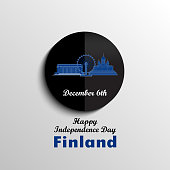 December 6th, Finland, Independence Day greeting card.