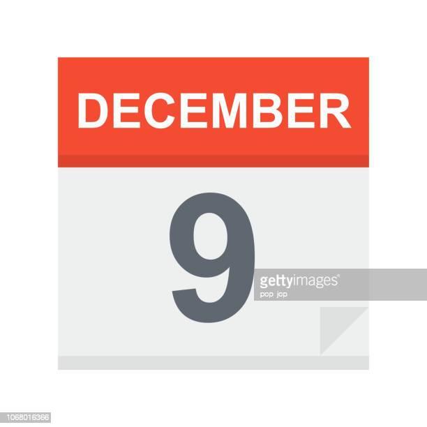 9. Dezember - Kalender-Symbol