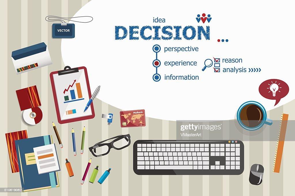 Decision design and flat design illustration concepts for busine
