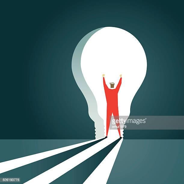Décisions, porte, stratégie, Solution, ampoule électrique, lampe, la porte, la porte