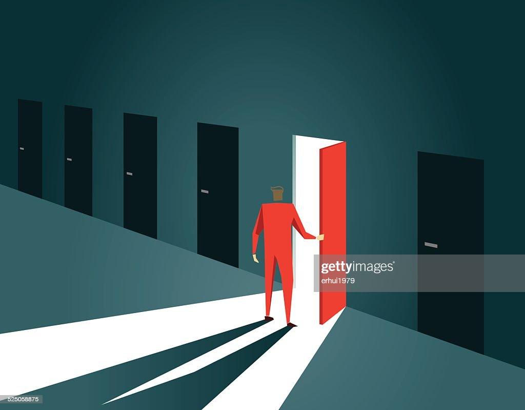 Decisions,Choice, Inspiration, Door, Doorway, Gate, Open, Opportunity : stock illustration