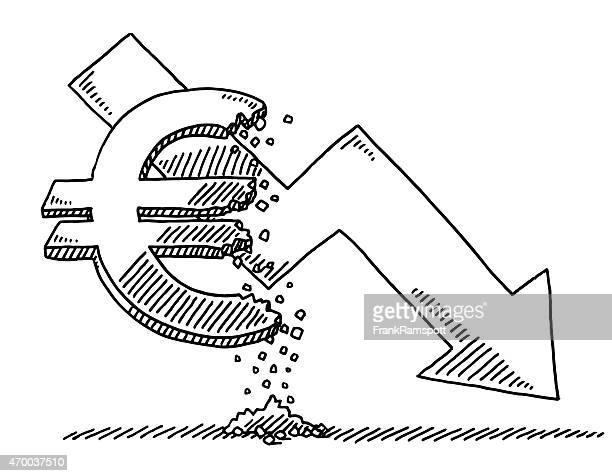 いるグラフユーロ通貨の描出