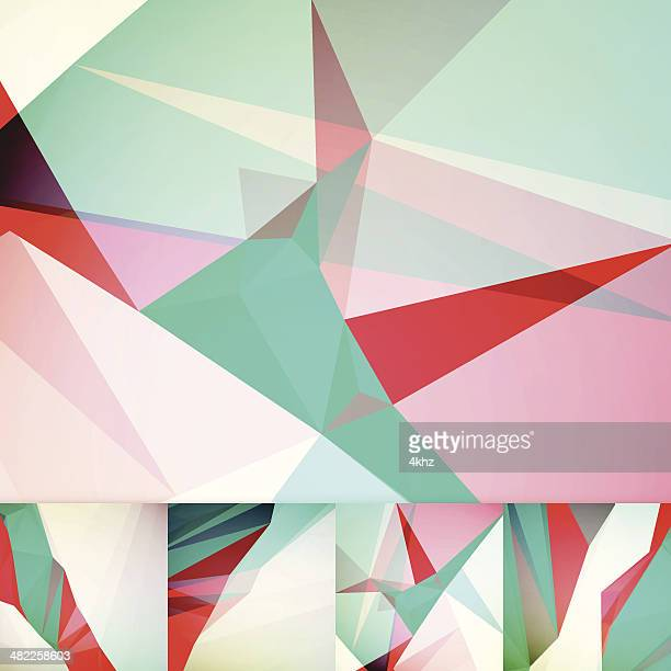 deconstructive futuristic geometric graphic art layout template abstract vector background - sharp stock illustrations, clip art, cartoons, & icons