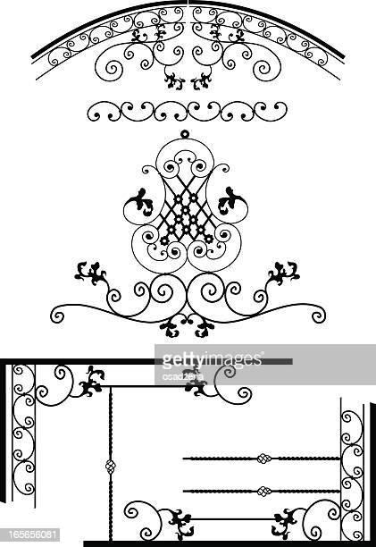 Design-Elemente für grates aus Metall