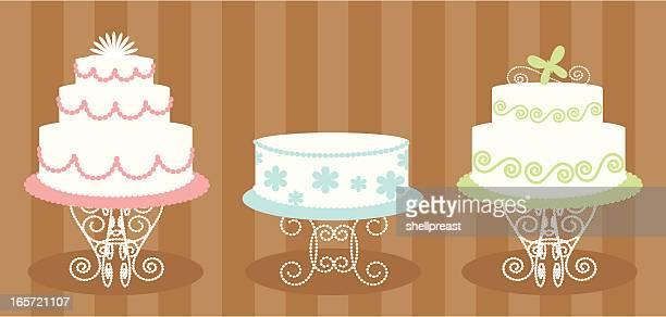 ilustraciones, imágenes clip art, dibujos animados e iconos de stock de decorado tortas - decorar