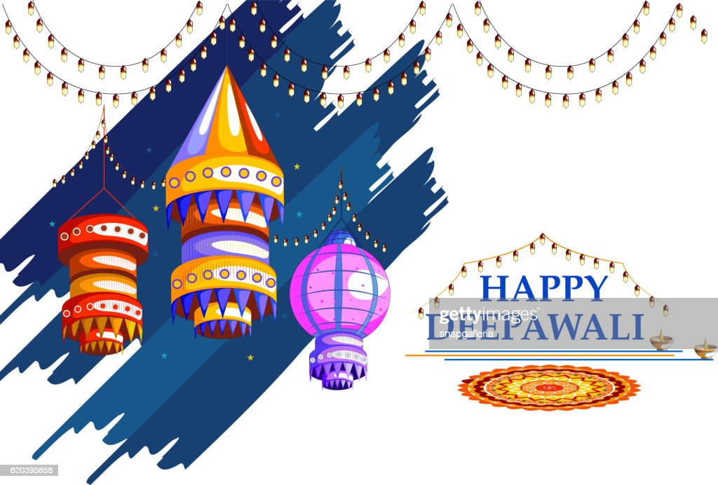 Decorated for Happy Diwali background