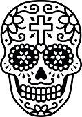 Decorated skull / calavera celebrating Day of the Dead illustration