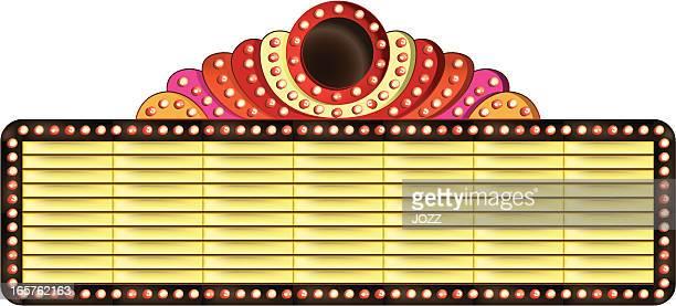 decorated theatre billboard