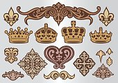 decoration crown ornament , vector
