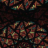Decorative abstract background with stylized stained glass window
