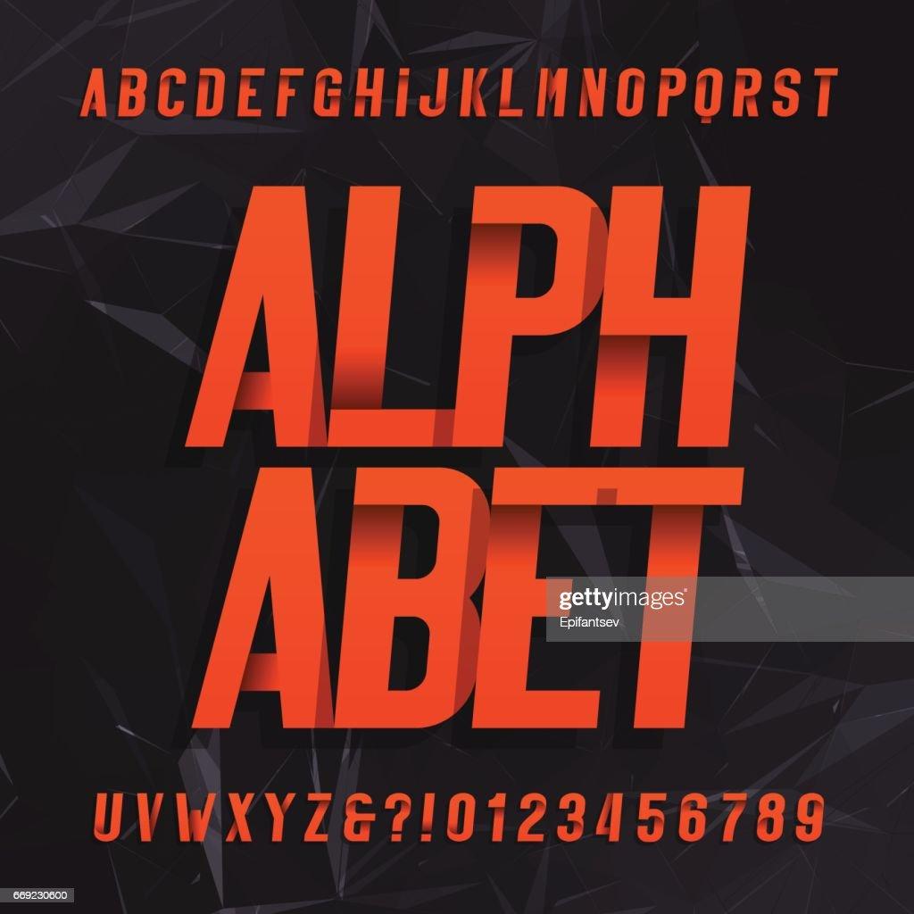Decorative alphabet vector font.