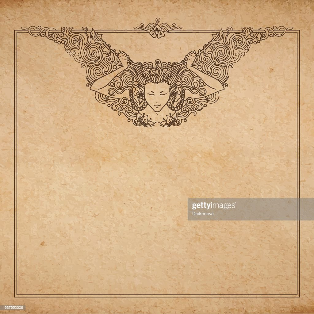 decorative angel woman frame
