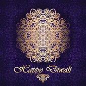 Decorative background for Diwali