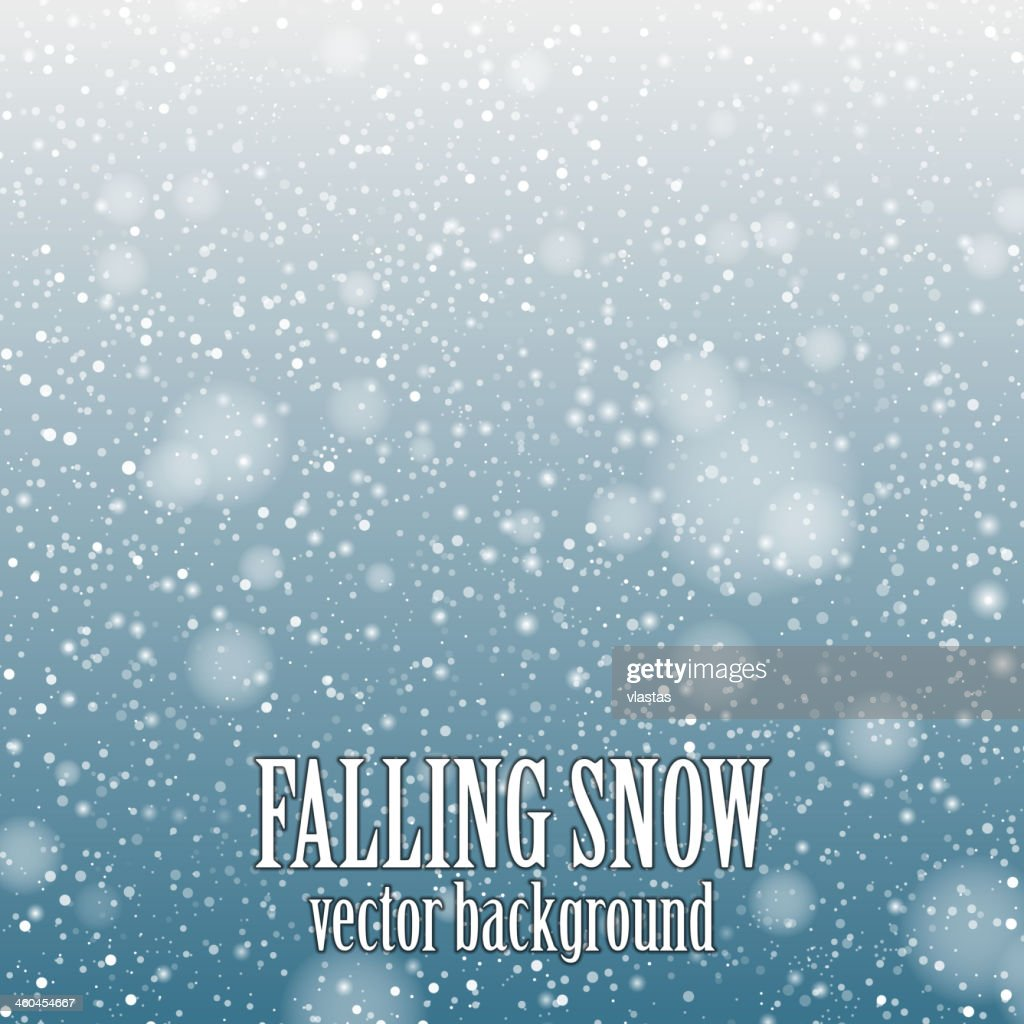 Decorative background of falling snow