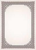 Decorative border frame certificate template vector