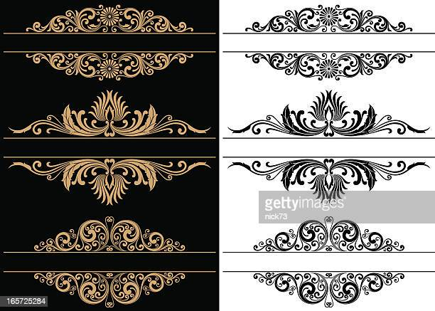 decorative border - gothic style stock illustrations, clip art, cartoons, & icons