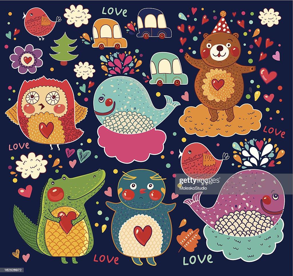 Decorative cartoon animals