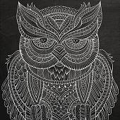 Decorative chalk board Owl head