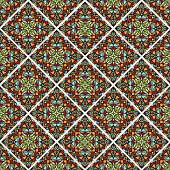 Decorative colorful mosaic tile. Seamless vector rhomboid patterns