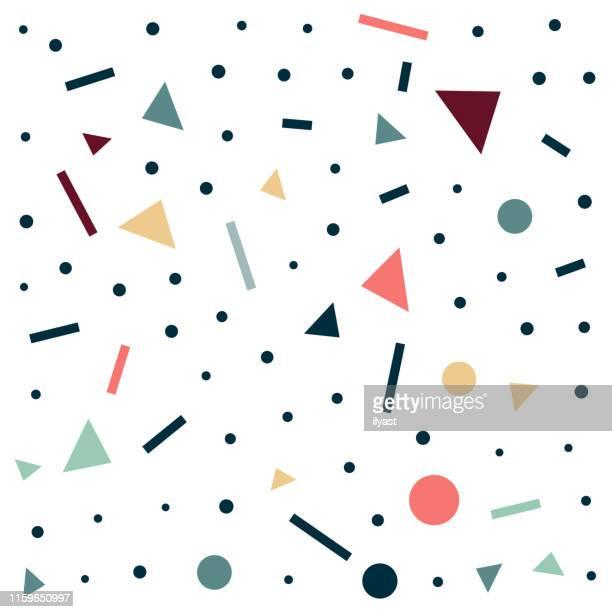 decorative & colourful trendy vector pattern - fun stock illustrations
