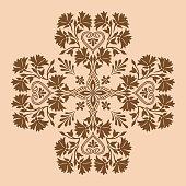 Decorative cross monochrome
