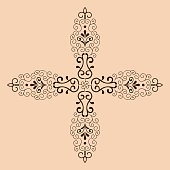 Decorative cross monochrome