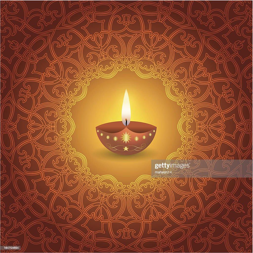 Decorative Diwali Lamp Design