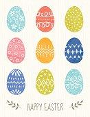 Decorative Eggs Easter Card