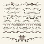 Decorative elements for design. Border, frame, divider. Vector image