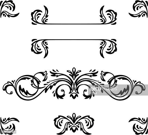 decorative elements - embellishment stock illustrations