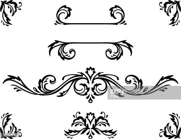decorative elements - art nouveau stock illustrations, clip art, cartoons, & icons