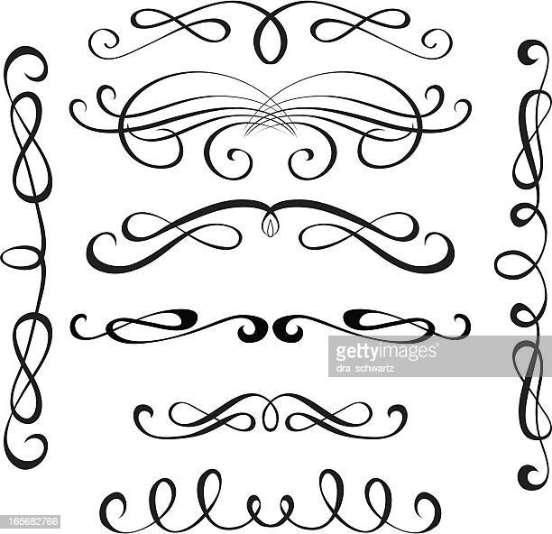 decorative elements - classical style stock illustrations, clip art, cartoons, & icons