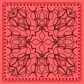 Decorative floral background. Use in the design of shawl, pillow, cushion. Vector illustration