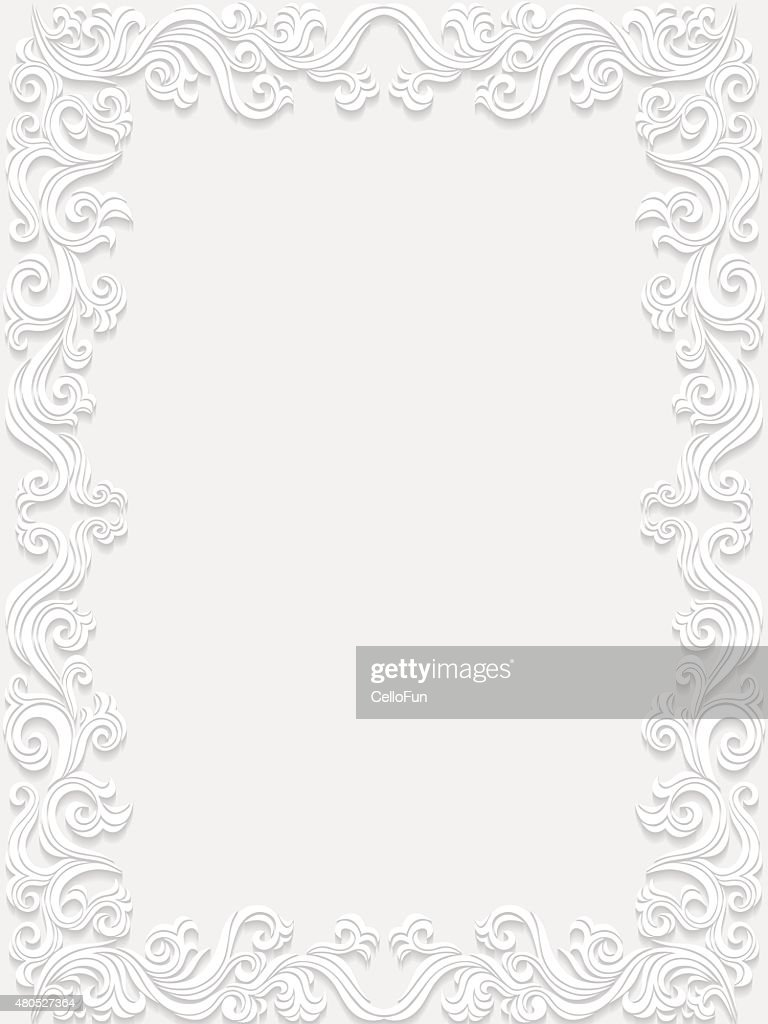 Decorative floral frame : Vector Art