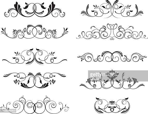 Decorative floral motifs