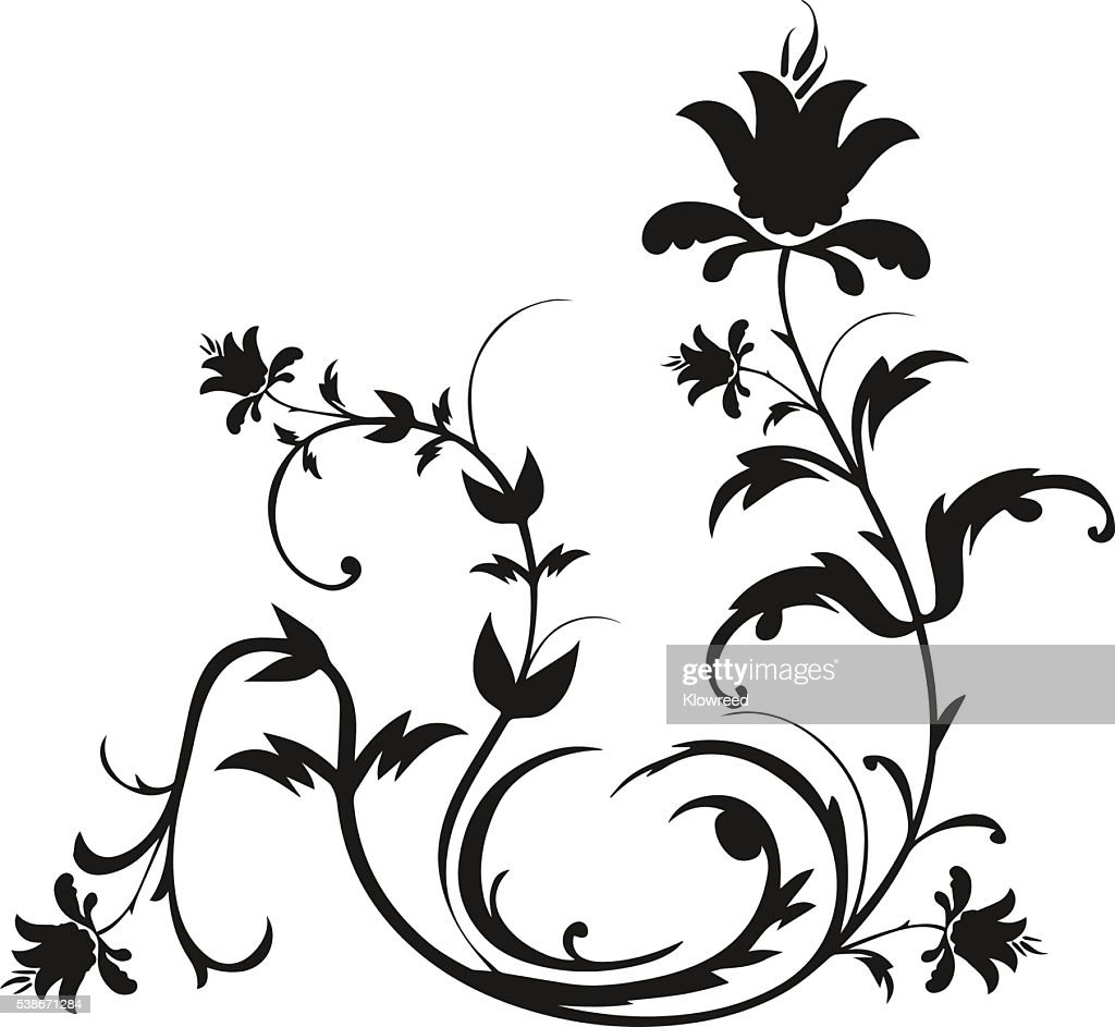 Decorative floral ornament designs.