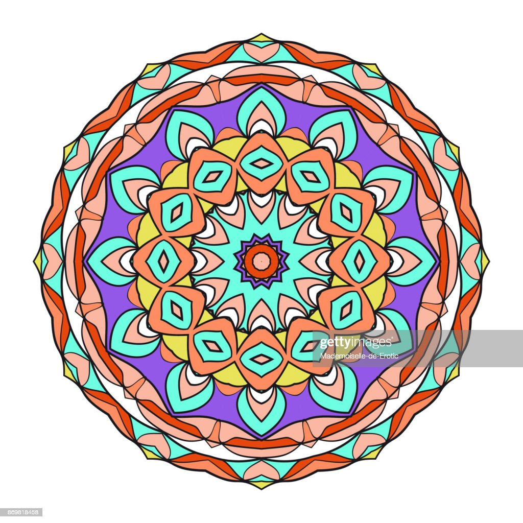Decorative flower coloring mandala vector illustration for greeting decorative flower coloring mandala vector illustration for greeting card invitation spa stopboris Image collections